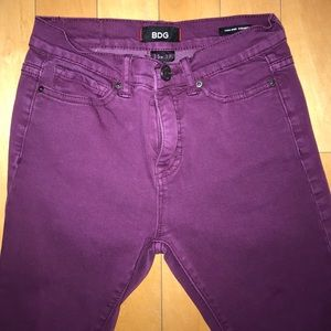 Urban Outfitters purple high rise skinny jeans